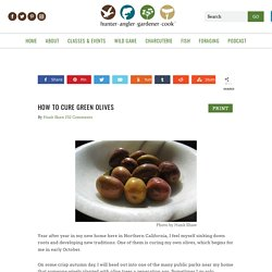 How to Cure Green Olives at Home - Curing Green Olives