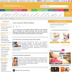 Cure thermale - Thermalisme