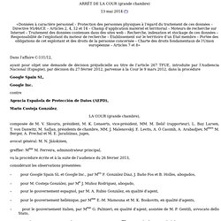 Arrêt de la Cour de justice de l'Union européenne - 13/05/2014