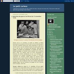 Mémoires de guerre: les 90 ans du 11 novembre 1918