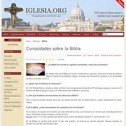 Curiosidades sobre la Biblia