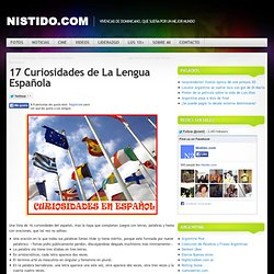 17 Curiosidades de La Lengua Española