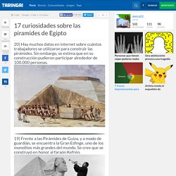 17 curiosidades sobre las piramides de Egipto