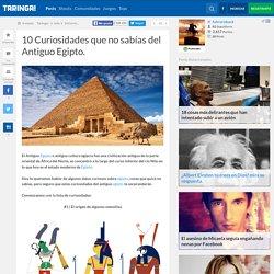 10 Curiosidades que no sabías del Antiguo Egipto.