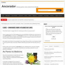 Flores - Curiosidades Sobre a Utilidade das Flores