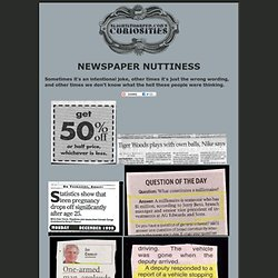 Newspaper Nuttiness