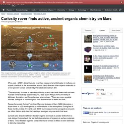 Curiosity rover finds active, ancient organic chemistry on Mars