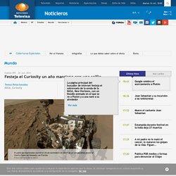 Festeja el Curiosity un año marciano con una selfie