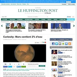 Mars contient 2% d'eau