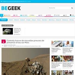 Curiosity trouve de nouvelles preuves de présence d'eau sur Mars