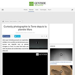 Curiosity photographie la Terre depuis la planète Mars