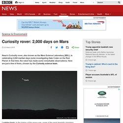 Curiosity rover: 2,000 days on Mars