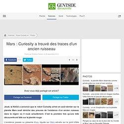 Photos - Mars : Curiosity a trouvé des traces d'un ancien ruisseau