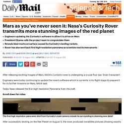 Nasa's Curiosity Rover undergoes 'brain transplant' after taking stunning panorama pictures of the Red Planet