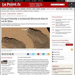Ce que Curiosity a (vraiment) découvert dans le sol de Mars