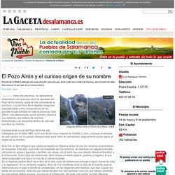 El Pozo Airón y el curioso origen de su nombre - Pereña de la Ribera -Noticias de La Gaceta de Salamanca