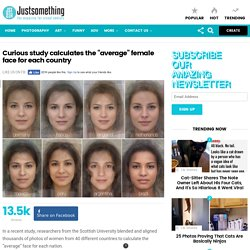 """Study - The """"average"""" female face for each country"""