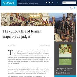 The curious tale of Roman emperors as judges
