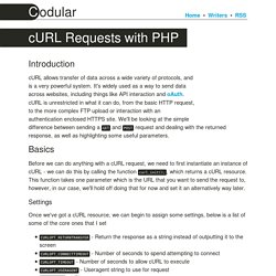 cURL Requests with PHP