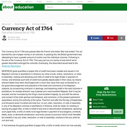 Currency Act of 1764 - Introduction and Text
