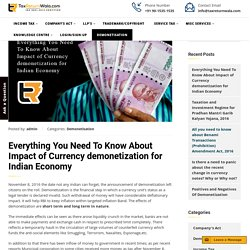 All you need to know about currency demonetization for indian economy