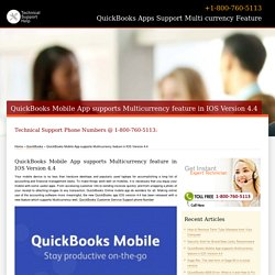 QuickBooks Mobile App supports Multicurrency feature