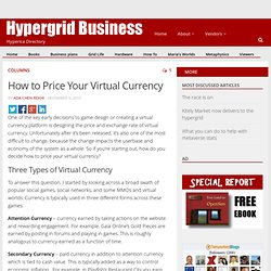 How to Price Your Virtual Currency