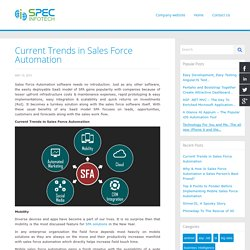 Current Trends in Sales Force Automation
