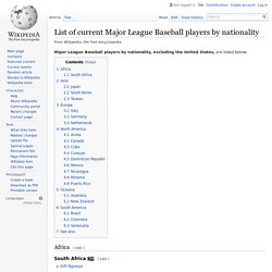 List of current Major League Baseball players by nationality