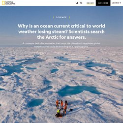 Why is an ocean current in the Arctic critical to world weather losing steam?