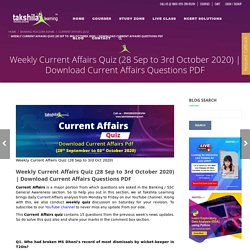 Download Current Affairs Questions PDF