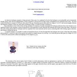 Faible courant d'électrolyse de l'eau par le professeur Kanarev