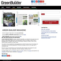 Magazine - GreenBuilder