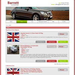 Cars - Current Products for Sale - Aldeby Near Beccles, Suffolk