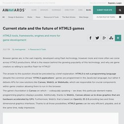 Current state and the future of HTML5 games
