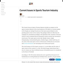 Current Issues in Sports Tourism Industry