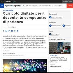 Curricolo digitale per il docente: le competenze di partenza