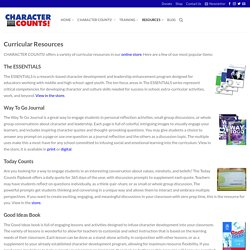 Curricular Resources