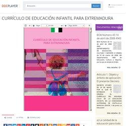 ⭐CURRÍCULO DE EDUCACIÓN INFANTIL PARA EXTREMADURA
