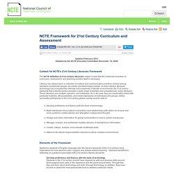 Framework for 21st Century Curriculum and Assessment