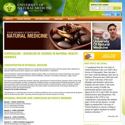 Bachelor of Natural Health Sciences Degree