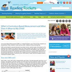 What Is Curriculum-Based Measurement and What Does It Mean to My Child?