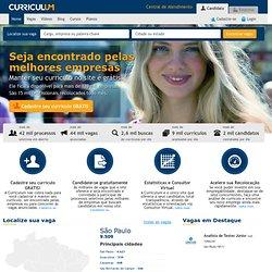 Vagas de emprego em todo o Brasil - empregos na Curriculum.com.br