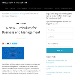 A New Curriculum for Business and Management