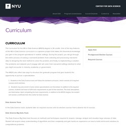 Curriculum - NYU Center for Data Science