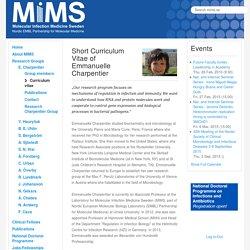 MIMS - Curriculum Vitae Emmanuelle Charpentier