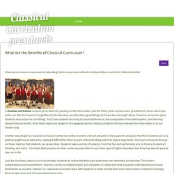 What Are the Benefits of Classical Curriculum?