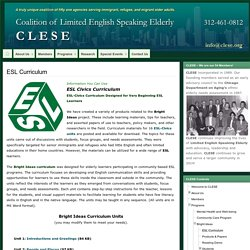 ESL Curriculum » Coalition of Limited English Speaking Elderly