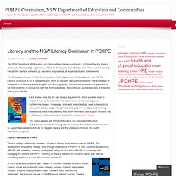 PDHPE Curriculum, NSW Department of Education and Communities