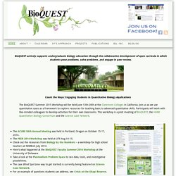 BioQUEST Curriculum Consortium | Biology Curriculum Development | Curriculum Resources
